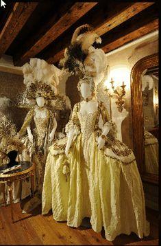 """18th century Venice Carnival """"Il Ballo del Doge"""" fashion."""
