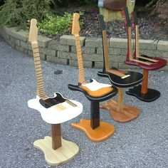 guitar chairs - these are crazy cool!!