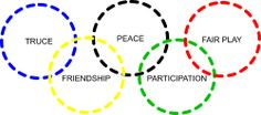 Olympic Values. Great for Camp.