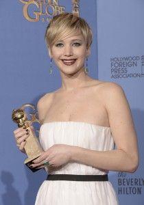 Jennifer Lawrence - Golden Globes de la meilleure actrice dans un second rôle  Source photo/Courtesy of : Kevin Winter/Getty Images North America