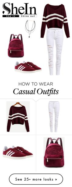"""""""casual chic"""" by becreynolds on Polyvore featuring adidas"""