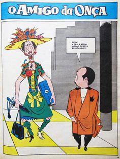 """Charge """"O Amigo da Onça"""", de Péricles, tem mais aqui: http://designices.com/o-amigo-da-onca-1943-1961-por-pericles/"""