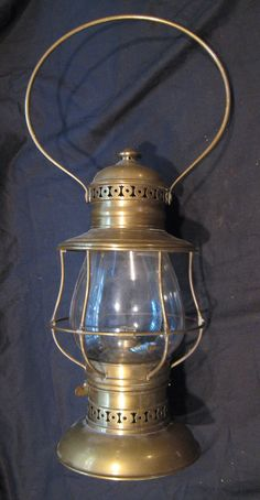 Kerosene Oil C T Ham Brass Fire Police Railroad Number 39 Lantern Lamp