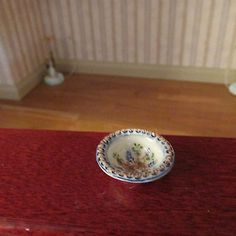 Miniature Dollhouse Handpainted Bowl by Jean Tag 1:12 Scale