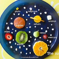 WHAT A GREAT SNACK FOR KIDS LEARNING ABOUT THE SOLAR SYSTEM! Delicious and educational at the same time!!