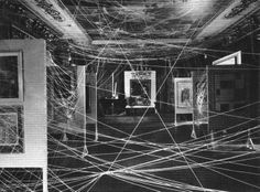 Marcel Duchamp - 'Sixteen Miles of String installation', the 'First Papers of Surrealism' exhibition, New York, 1942