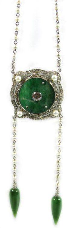 Jade necklace, 1910 pb