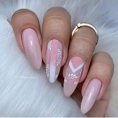58 Beautiful Pink Almond Nails Art Designs For Spring And Summer In 2020 - Keep creating beauty and warm home, Find more happiness in daily life Spring Nails, Summer Nails, Cute Nails, Pretty Nails, Almond Nails Designs Summer, Nailart, Almond Nail Art, Indigo Nails, Nagellack Trends