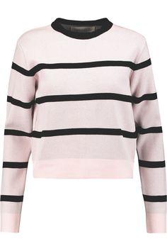 ETRE CECILE Striped stretch-knit sweater. #etrececile #cloth #sweater