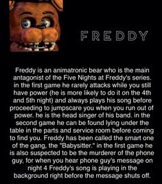 It was actually Golden Freddy who killed Phone Guy and the others are heard in the background Five Nights At Freddy's, Fnaf Theories, Fnaf Story, Animatronic Fnaf, Scary Games, Fnaf Sl, Fnaf Characters, Fnaf Sister Location, Fnaf Drawings