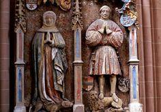 Oppenheim, Katharinenkirche, Grabmal der Eheleute Johann von Dalberg und Anna von Bickenbach (St. Catherine's Church, epitaph of the couple Johann von Dalberg and Anna von Bickenbach)   da HEN-Magonza