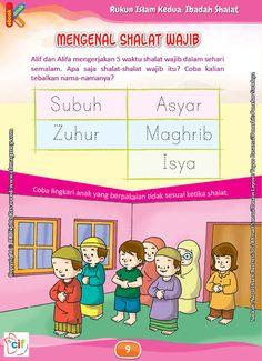Download Gratis Worksheet Mengenal Shalat Wajib | Ebook Anak
