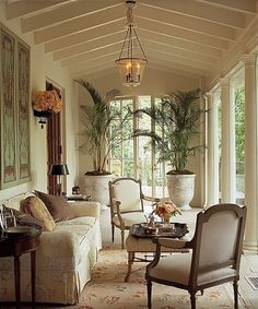 elegant sun room ~ Cathy Kincaid design