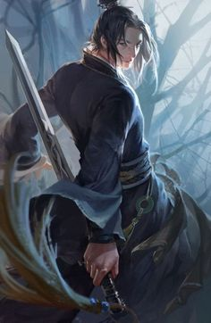 Rogue archetype — Xiake/Chinese knight-errant — Original character, Demi-Gods and Semi-Devils (Mobile game) Fantasy Art Men, Fantasy Warrior, Fantasy Artwork, Fantasy Illustration, Character Illustration, Le Clan, China Art, Historical Art, Boy Art