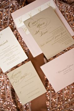 pink and gold wedding |