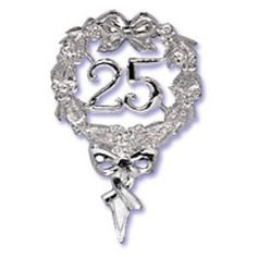 25th Anniversary Pick for Cakes