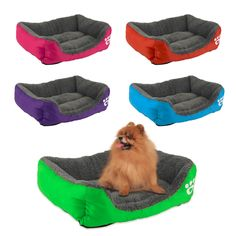 Soft and Comfortable Pet Dog Cat Bed Cushion House Pet Soft Warm Kennel Dog Mat Blanket 5 Colors Different Size Pet Necessity #Affiliate