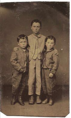 Antique Tintype Photograph 'MY Three Sons'   eBay