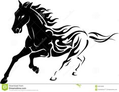 abstract-wild-flame-mustang-isolated-illustration-trail-body-galloping-horse-50019596.jpg (1300×1006)