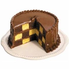 Can't pick your favorite? Bake a Checkerboard Cake and you can put two flavors in one cake!