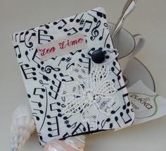 Perfect for the music or instrument teacher.  Sweet sound of music tea wallet by MyPetitBisous on Etsy