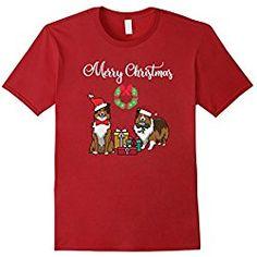 Sheltie T Shirt Mens Adorable Shelties Merry Christmas TShirt Sheltie Mom Gift XL Cranberry