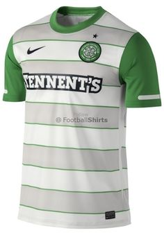 Size 13-15 Years Professional Design Genuine Nike Junior Kids Celtic Home Jersey 2012-2013