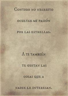 LAs estrellas. #frases #amoran  The stars,love,romance,true Infinite...can it be?