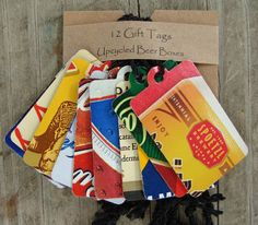 Repurposed Beer Boxes - Upcycled Cardboard Gift Boxes & Gift Tags ...
