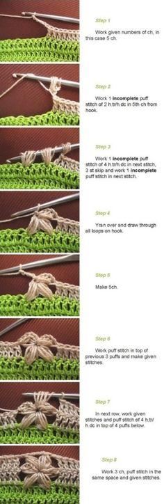 Crochet 5 Petal Flower Edge