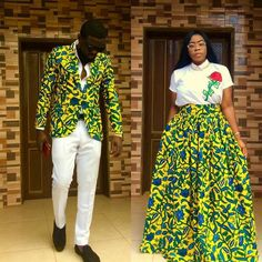 Latest Trending Ankara Dress Styles For Couples 2018 - Best African Fashion Ankara And Aso Ebi Styles in 2020 Couples African Outfits, Couple Outfits, African Attire, African Wear, African Dress, Ankara Styles For Men, Ankara Short Gown Styles, Latest Ankara Styles, Latest Ankara Gown