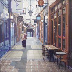 Passage des Panoramas, Paris Painting by Roos van der Meijden