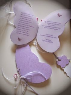 προσκλητήριο χειροποίητη πεταλούδα! Christening Invitations, Baby Invitations, Girl Shower, Baby Shower, Butterfly Invitations, Quinceanera Invitations, Graduation, Greeting Cards, Bloom