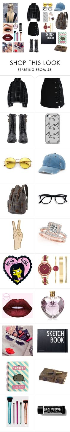 """Untitled #208"" by mariamargaux-1 on Polyvore featuring Chicwish, Music Notes, Wildfox, Mudd, Lucky Brand, Allurez, Anne Klein, Vera Wang, Design Letters and Pusheen"