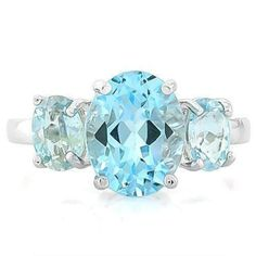 CloseoutWarehouse Blue Simulated Topaz Surrounded by Round Cubic Zirconia Heart Swirl Design Ring Sterling Silver