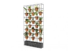 Our Lanna Garden Screen is made from galvanized steel with a black or white semi-gloss finish. It comes complete with of polished river pebbles to match the colour of your screen and 20 terracotta or colour matched polypropylene pots. Office Screens, Balcony Garden, Garden Walls, River Pebbles, Garden Screening, Green Office, Eco Green, Office Plants, Plant Wall