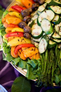 Cooked Vegetable Platter