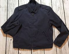 1960's Vanderbilt Shirt Co Mens Zip Work Jacket 40R US Navy Issue Summer Weight  #VanderbiltShirtCo #Casual