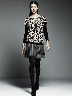 fb671d321a9 Jacquard Pullover Sweater and Sweater Skirt Parisienne Chic