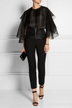 Antonio Berardi | Layered silk-organza top | NET-A-PORTER.COM