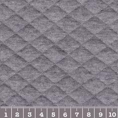Jersey matelassé gris chiné soldé en janv 2015 à 12.60 €/m.. je vais craquer !!