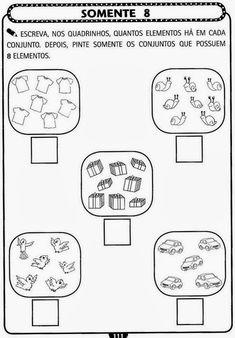 Atividades de Matemática com numerais para a Educação Infantil ~ EDUCANDO COM AMOR 2013