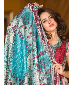 Signature Icon Embroidered Lawn Collection 2016 ZS_12A