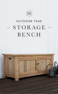 Keymar Teak Outdoor Storage Bench   4 Ft Or 5 Ft