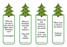 A fabulous collection of child-friendly Christmas jokes, to read online or print out as lunch box jokes, bookmarks and more! Perfect for Advent Calendars! Christmas Gift Riddles, Christmas Tree Jokes, Funny Christmas Jokes, Christmas Deserts, Office Christmas, Christmas Fairy, Christmas Books, Christmas Printables, Christmas Holidays
