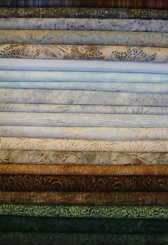 """""""Winter Walk"""" batik strips... inspired by the colors of the winter landscape in upstate New York."""