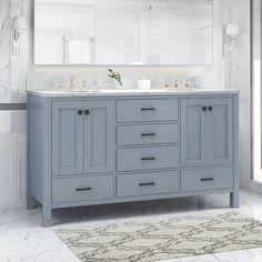 Double Sink Bathroom, Wood Bathroom, Single Bathroom Vanity, Small Bathroom, Master Bathroom, Bathroom Ideas, Bathroom Interior, Bathroom Organization, Bath Ideas