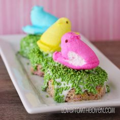 Chocolate Covered PEEPS Cripsy Treats #easter