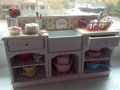 País en miniatura fregadero cottage