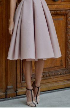 High Waist Pleated Flare Skirt - Trendslove